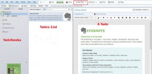 Evernote Main Window