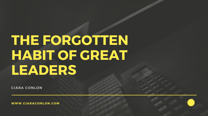 The forgotten habit of great leaders copy