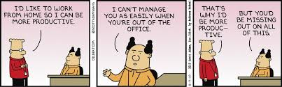 Working from Home Dilbert